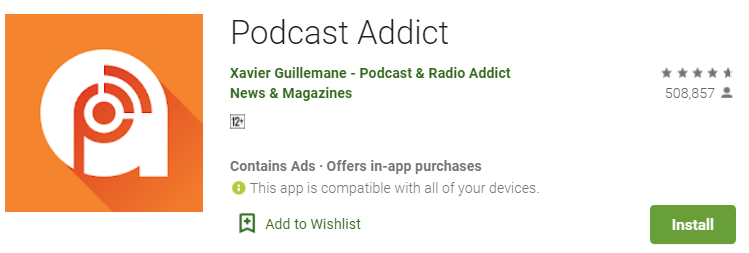 download podcast addict for,pc 1