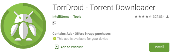 TorrDroid for Windows