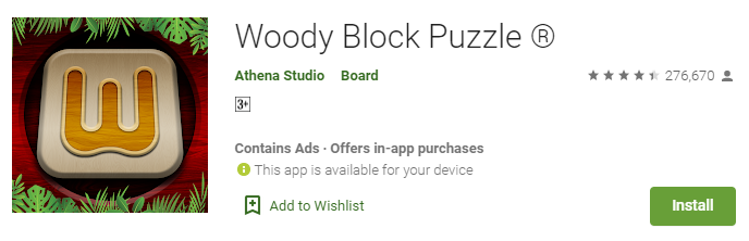 Woody Block Puzzle game for Windows and PC